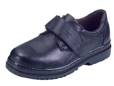 安全鞋 3K 實用型安全鞋 皮革安全鞋 黏式 B2038BS01 黑色