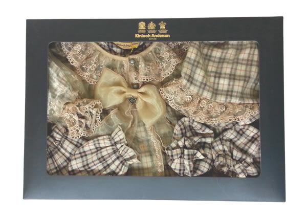 【金安德森】滿月兔裝禮盒四季款-經典格長兔裝+華麗繡花長罩衫