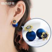耳環 s925銀針春季雪花耳環 氣質夢幻冷淡風耳墜 合成水?前後雙面耳釘   霓裳細軟