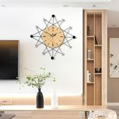 掛鐘鐘表客廳靜音個性家用藝術時鐘創意現代裝飾大氣臥室時尚掛表 NMS蘿莉小腳丫