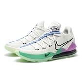 "NIKE 籃球鞋 LEBRON 17 LOW ""GLOW IN THE DARK"" 米白綠紫 夜光 姆斯 低筒 (布魯克林) CD5006-005"