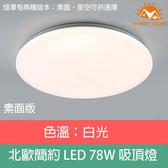 HONEY COMB 北歐LED 78W單色溫吸頂燈 素面款TA8023W 白光