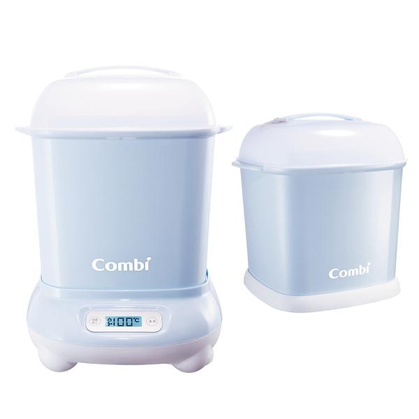【愛吾兒】Combi 康貝 Pro 360高效消毒烘乾鍋/消毒鍋+奶瓶保管箱-靜謐藍