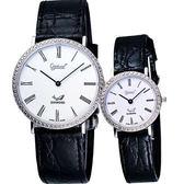 Ogival 愛其華 維多利亞真鑽對錶/情侶手錶 385DM159+385LD171