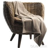 小號毯子午睡秋冬季加厚空調辦公室毛毯單人學生蓋腿便攜午休被子 深藏blue
