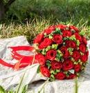 拼色新娘手捧花