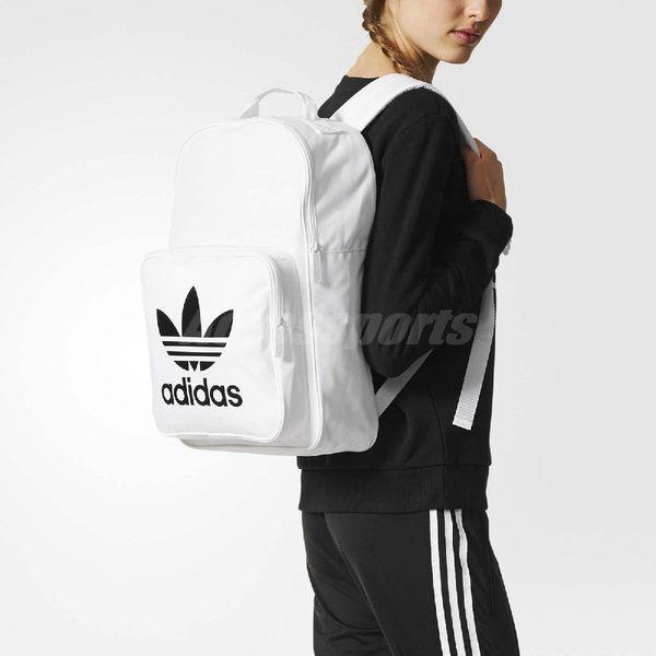 adidas 後背包 Originals BP CLAS TREFOIL 中性款 男女 經典款 雙肩背 書包 黑白 黑 白 【PUMP306】 BP7307