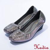 2016秋冬新品上市 kadia  氣質款 閃耀燙鑽娃娃鞋(銀色)