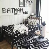 歐式鐵藝床單人床雙人床1.2 1.5 1.8米 鐵床鐵架床兒童床現代簡約 igo 全館免運
