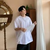 FINDSENSE品牌 訂製 G6 韓系男裝 正韓薄款網紗亮片短T兩件式正韓寬鬆