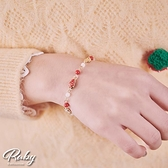 手鍊 可愛草莓花朵串珠手鍊-Ruby s 露比午茶
