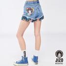 【19新品】金魚姬花漾滿版高腰無彈短褲(淺藍) - BLUE WAY 地藏小王