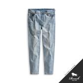 【Roush】 刀割破損水洗淺色牛仔褲 -【8002】