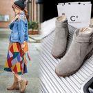 粗跟短靴-歐美復古英倫皮帶扣女馬丁靴2色73is9【時尚巴黎】