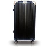 【YC Eason】30吋運動鋁框避震行李箱胖胖箱(黑金)