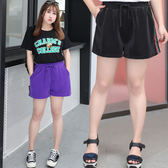 中大尺碼~側邊撞色運動休閒短褲(XL~4XL)
