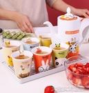 茶具套裝家庭水杯套裝喝水杯子家用客廳茶杯茶具簡約陶瓷水具杯具涼冷水壺 大宅女韓國館