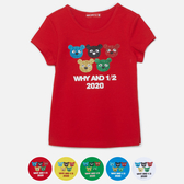 WHY AND 1/2 普普熊棉質萊卡T恤 11Y~14Y以上 多色可選