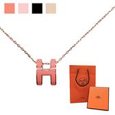 【台中米蘭站】全新品 Hermes 經典Pop H立體簍空橢圓LOGO項鍊(多色)