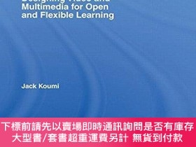 二手書博民逛書店Designing罕見Video And Multimedia For Open And Flexible Lea