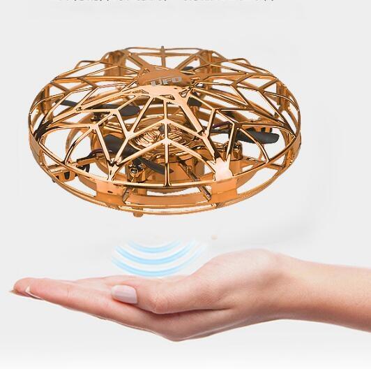 空拍機 UFO感應飛行器遙控飛機四軸無人機小型智能懸浮飛碟兒童玩具男孩【快速出貨八折下殺】