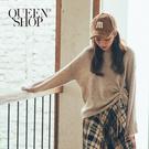 Queen Shop【01070931】基本休閒素色側抽繩造型長袖毛衣 兩色售*現+預*