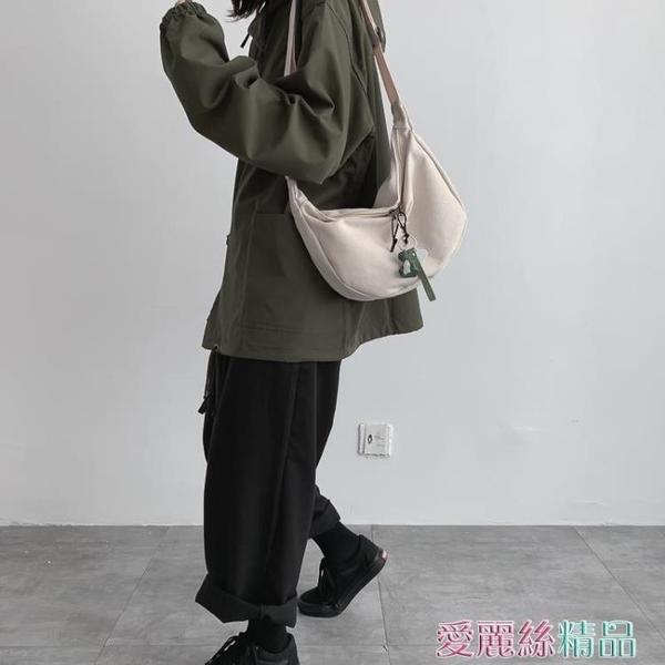 斜背包小包包女潮斜背百搭側背ins風學生韓版ulzzang日系帆布包 春季上新