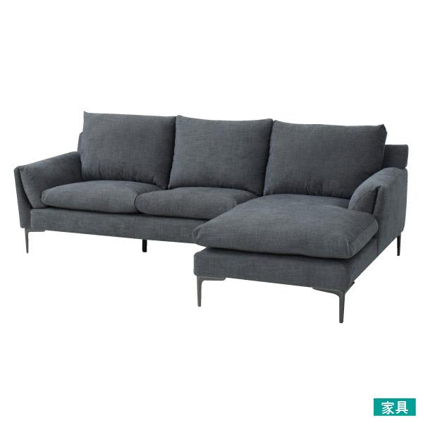 ◎布質左躺椅L型沙發 KF2037 DGY NITORI宜得利家居