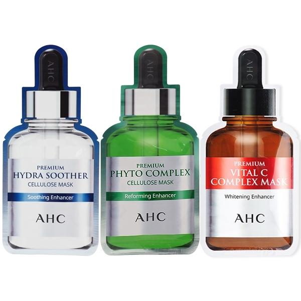 韓國 AHC B5高濃度 玻尿酸/膠原蛋白緊緻/VC補水亮白 保濕面膜(單片27g)【小三美日】A.H.C $99