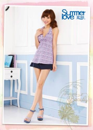 【夏之戀SUMMERLOVE】小碎花長版三件式泳衣(S14701)
