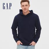 Gap男裝 基本款純色連帽上衣 567866-海軍藍