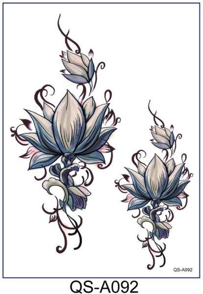 花臂紋身貼紙  蓮花   日韓系水轉印紋身貼紙 想購了超級小物