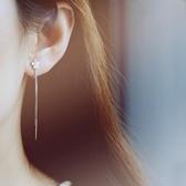 925銀無耳洞女小眾耳夾法式森系仙氣超仙長款耳環高級感學生簡約
