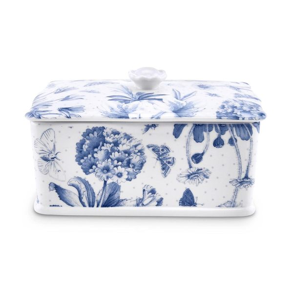 Portmeirion淡雅植物藍奶油盒