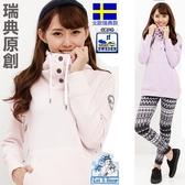 瑞典款 女款連帽厚磅極地禦寒上衣(LA4402 淺粉/淺紫)【戶外趣】