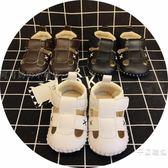 夏季寶寶涼鞋男童學步鞋0-6-12個月1-3歲包頭軟底嬰兒不掉鞋女童免運【快速出貨好康八折】