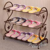 鞋櫃鞋架鞋架簡易家用多層簡約現代經濟型鐵藝宿舍拖鞋架子收納小鞋架鞋櫃 果果輕時尚 igo