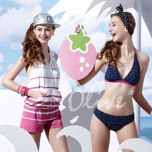 ☆小薇的店☆MIT聖手品牌【俏麗點點風格】時尚三件式比基尼泳裝特價1580元NO.A93621(M-XL)