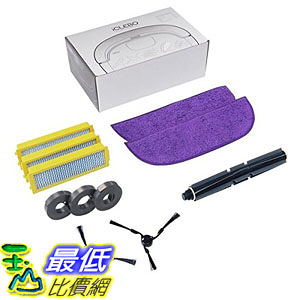 [107美國直購] 掃地機器人組件 iClebo Replenishment Part Kit, Includes BrushesRobot Vacuum Cleaner