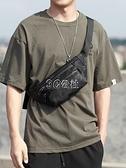 男士腰包休閒胸包多功能潮牌單肩包運動背包小型背包斜背包男包包 快速出貨