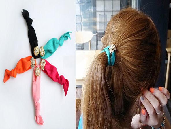 【櫻桃飾品】甜美水鑽扭結髮帶 髮束 手環   【24103】
