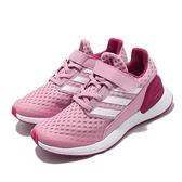 adidas 慢跑鞋 RapidaRun EL K 粉紅 白 魔鬼氈 童鞋 女鞋 【ACS】 EF9261