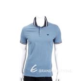 Emporio Armani EA 標誌灰藍色短袖POLO衫(男款) 1920705-59