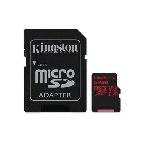 【新風尚潮流】金士頓 記憶卡 MICRO-SD HC 小卡 C10 UHS-I U3 64G SDCR/64GB