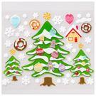 聖誕窗貼 繽紛聖誕樹 L-83 NITORI宜得利家居