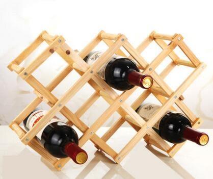 特價歐式實木質創意折疊紅酒架 家居葡萄酒架 多瓶裝實木酒架