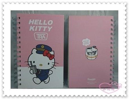 ♥小花花日本精品♥ Hello Kitty 新太魯閣號 筆記本 記事本 帳務本 30開 台灣製 62024105