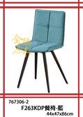 【全德原木】767306-2 F263KDP餐椅-藍 北歐風-工業風-鄉村風