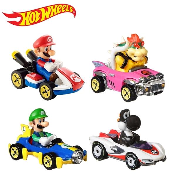 【正版授權】瑪莉歐賽車 風火輪小汽車 4入組 玩具車 超級瑪莉 瑪莉歐兄弟 路易吉 黑耀西 - 846256