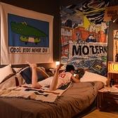 臥室卡通背景掛布兒童房間布置墻面裝飾出租房改造